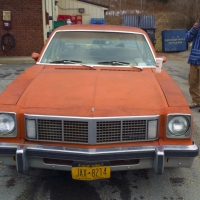Orange Oldsmobile Omega