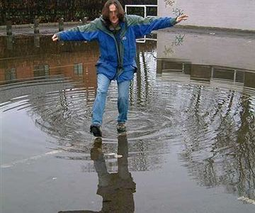 Stef in a Puddle