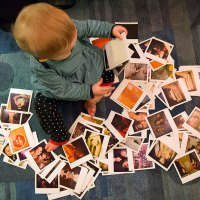 Perusing Polaroids