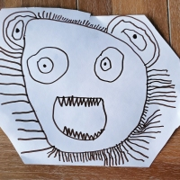 ROAR!  (Lion Mask by Fay)